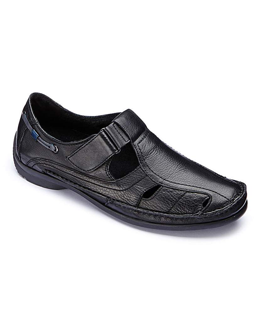 Image of Brevitt Sandalised Shoes Wide Fit