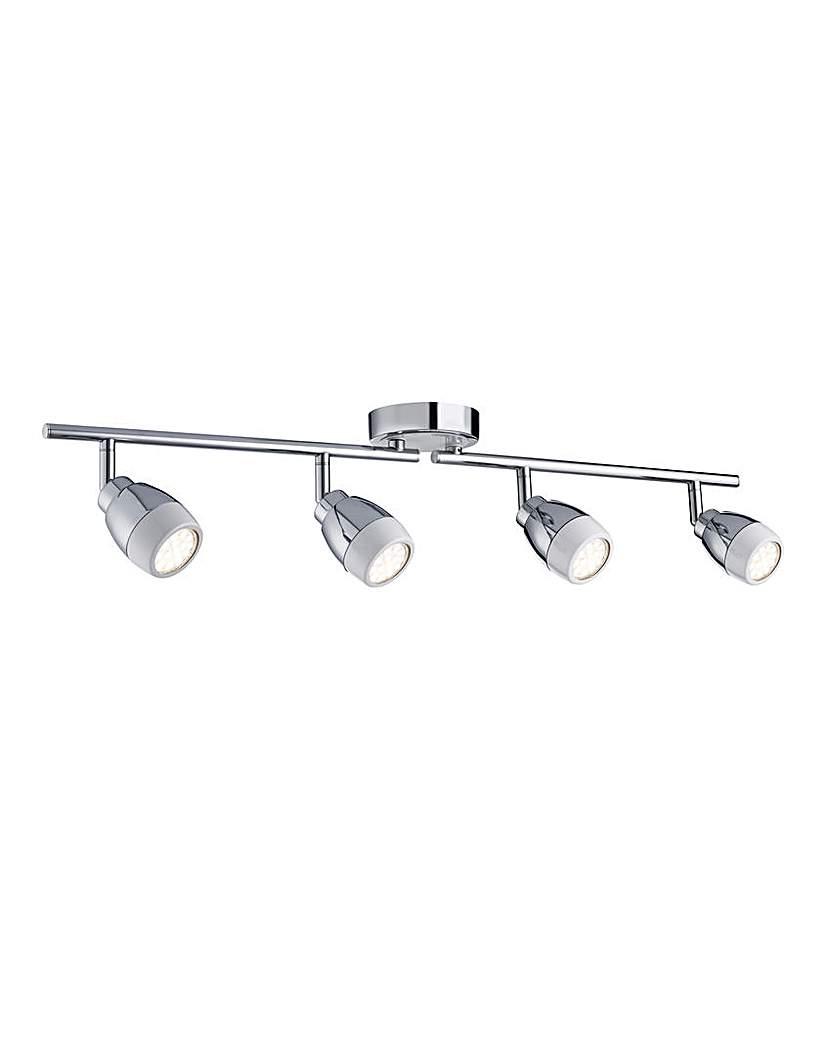 4 Light Straight Bar Chrome