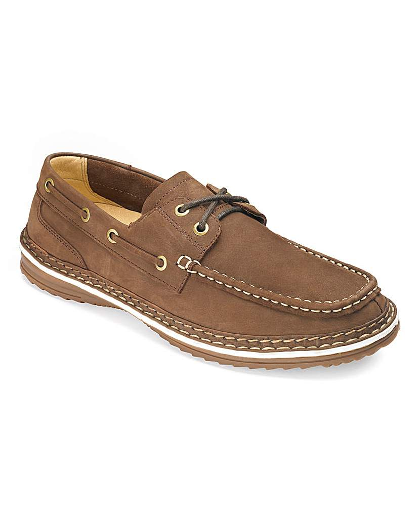 Image of Lace Up Boat Shoes By Air Cool Wide