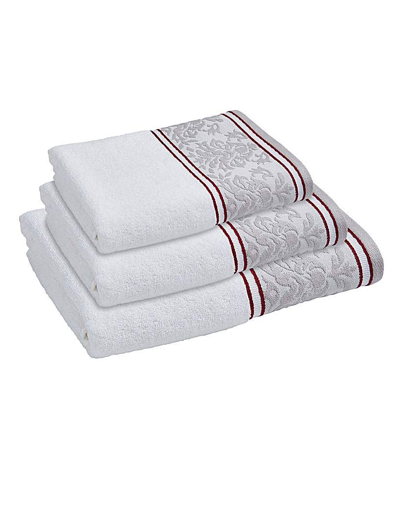 Damask Jacquard Border Towels