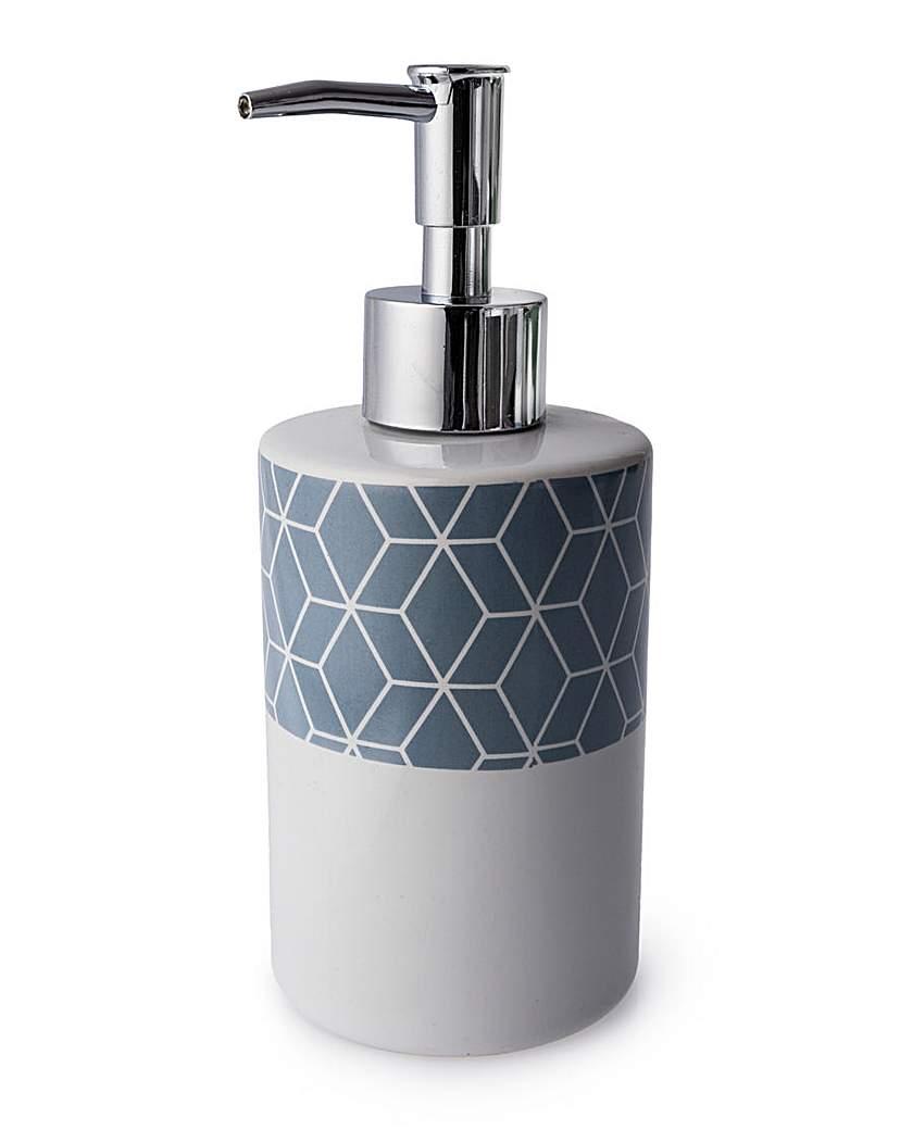 Geometric series ceramic soap dispenser