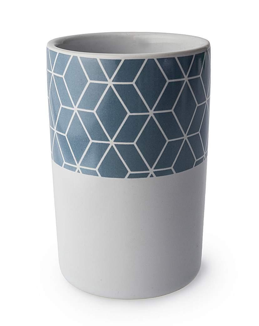 Geometric series ceramic tumbler