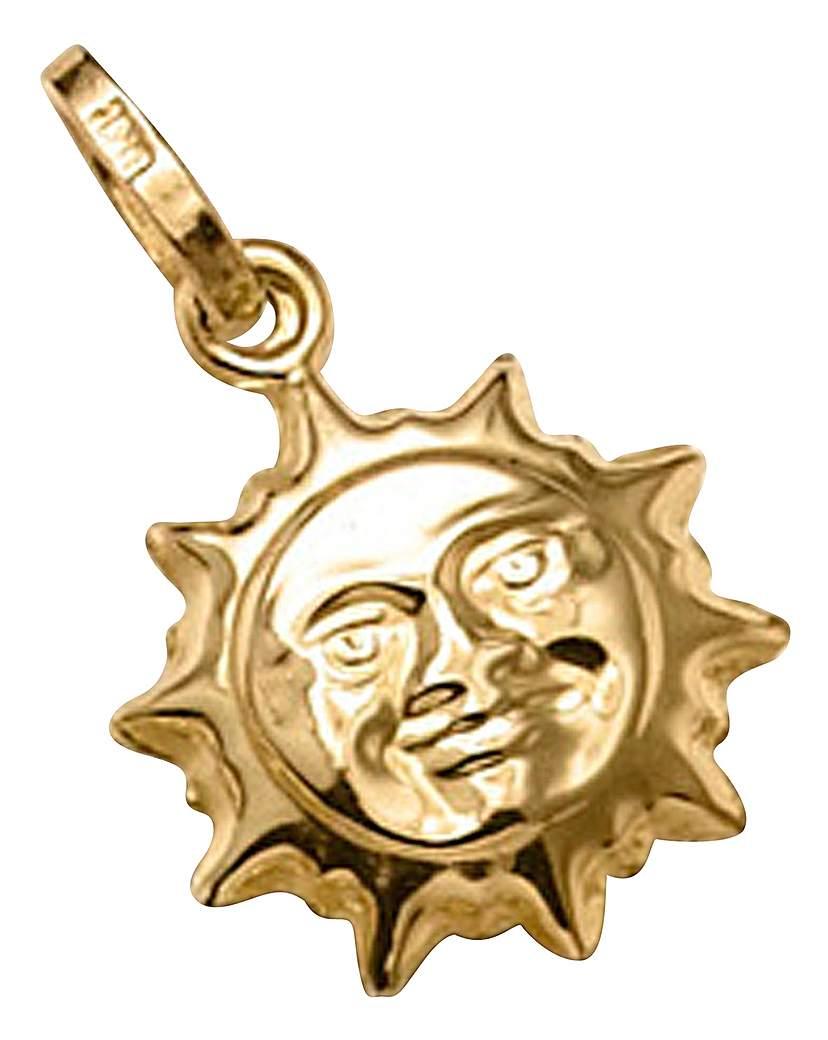 9 Carat Gold Sun Charm