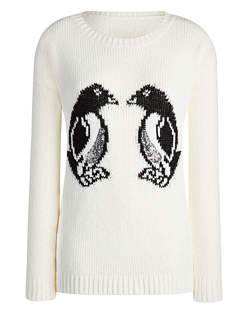 Product photo of Christmas penguin jumper
