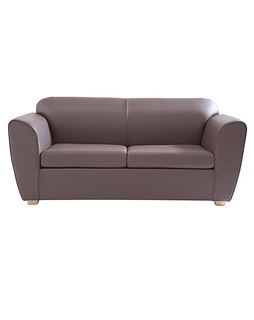 Image of Aurora Three Seater Faux Leather Sofa