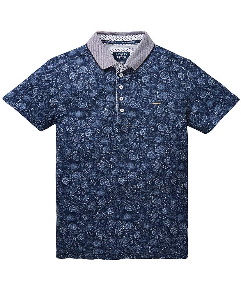 Image of Bewley & Ritch Floral Print Polo Long