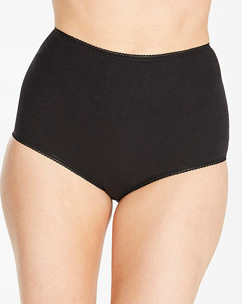Image of 4 Pack Basic Full Fit Black/Blush Briefs