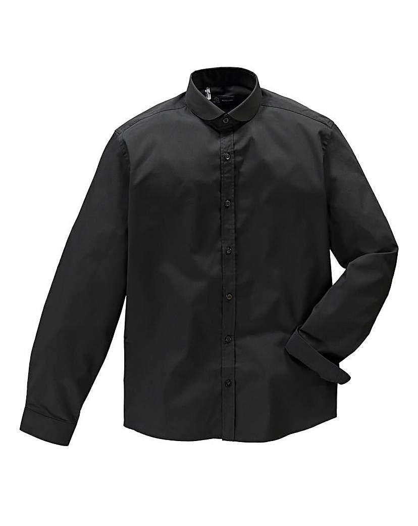 Image of Black Label by Jacamo Blk Penny Shirt L