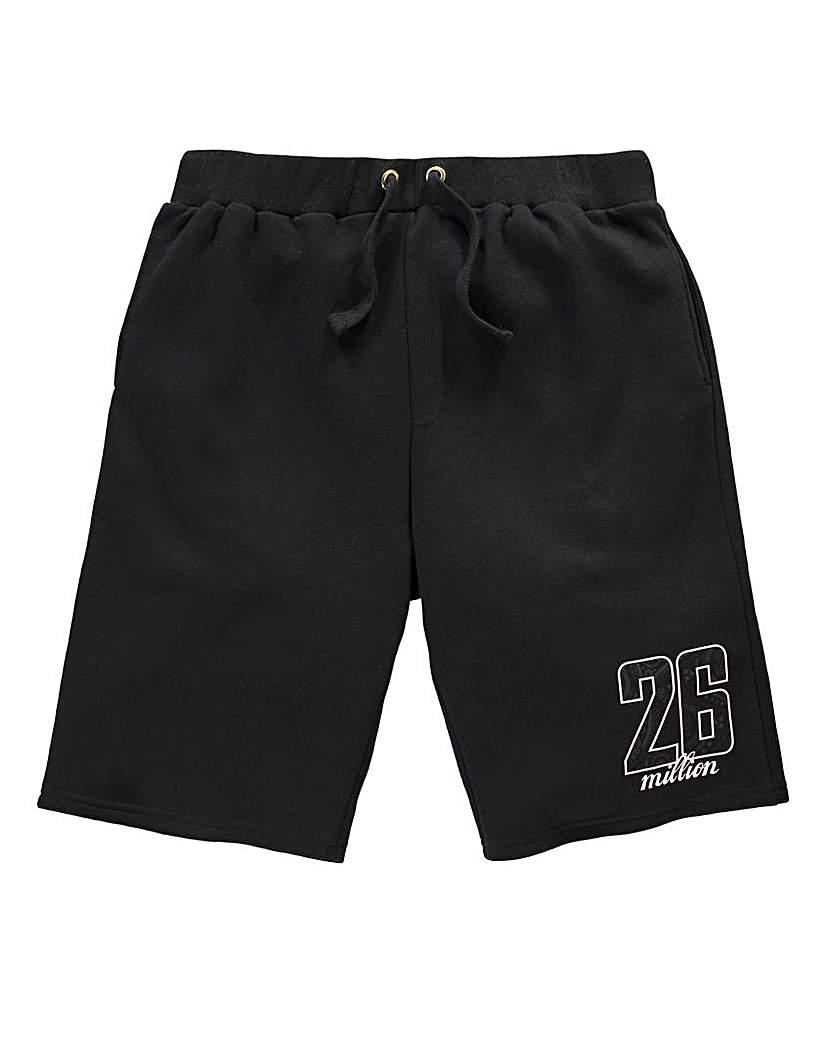 26 Million Blake Black Jog Short