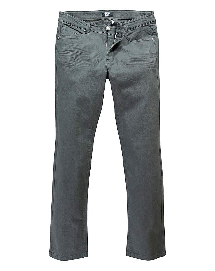 Image of UNION BLUES Charcoal Gaberdine Jean 27in