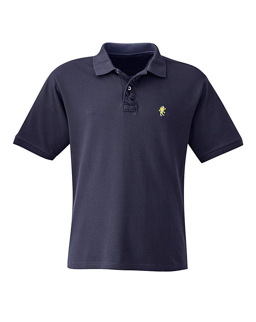 Capsule Navy Embroidered Polo Long at Marisota