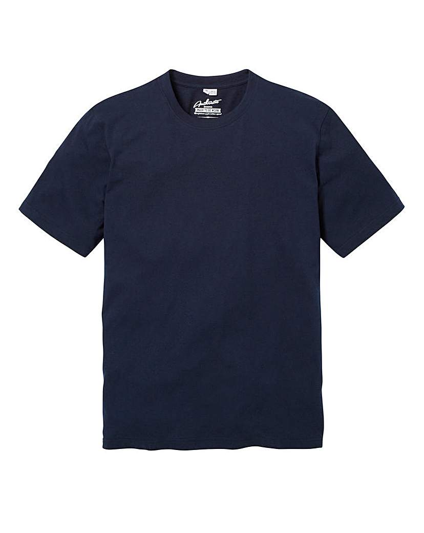Capsule Navy Dallas Basic Crew Tee Long.