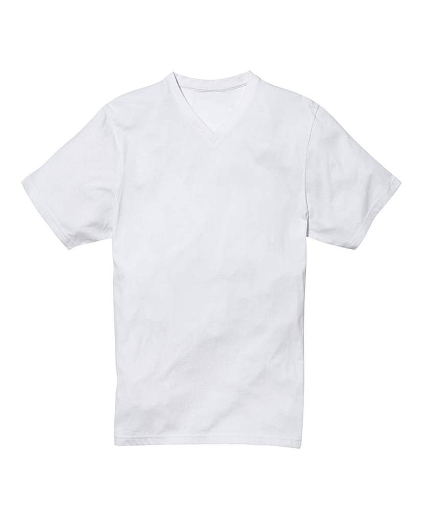 Capsule White Titus V-Neck Tee Long