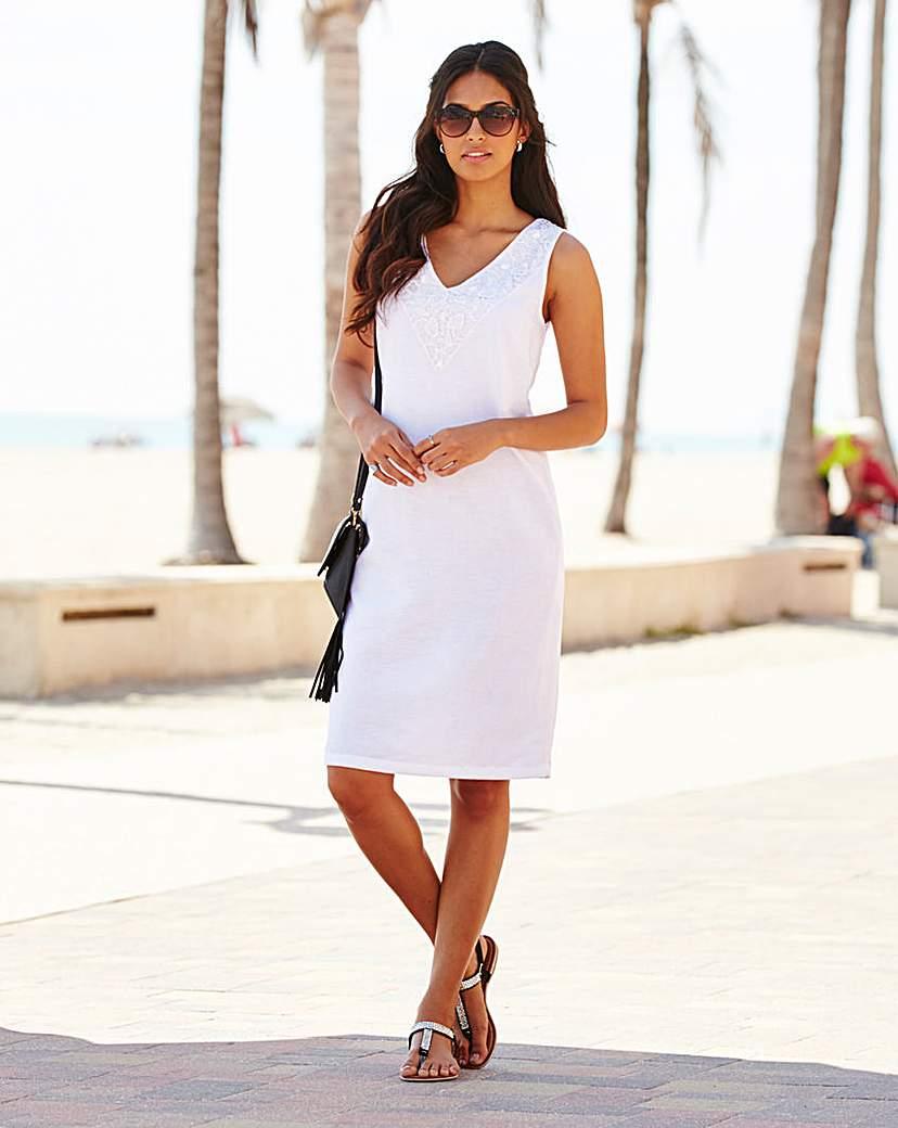 Linen Mix Knee length dress
