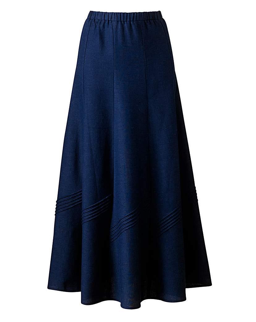 Linen Mix Skirt 30in.