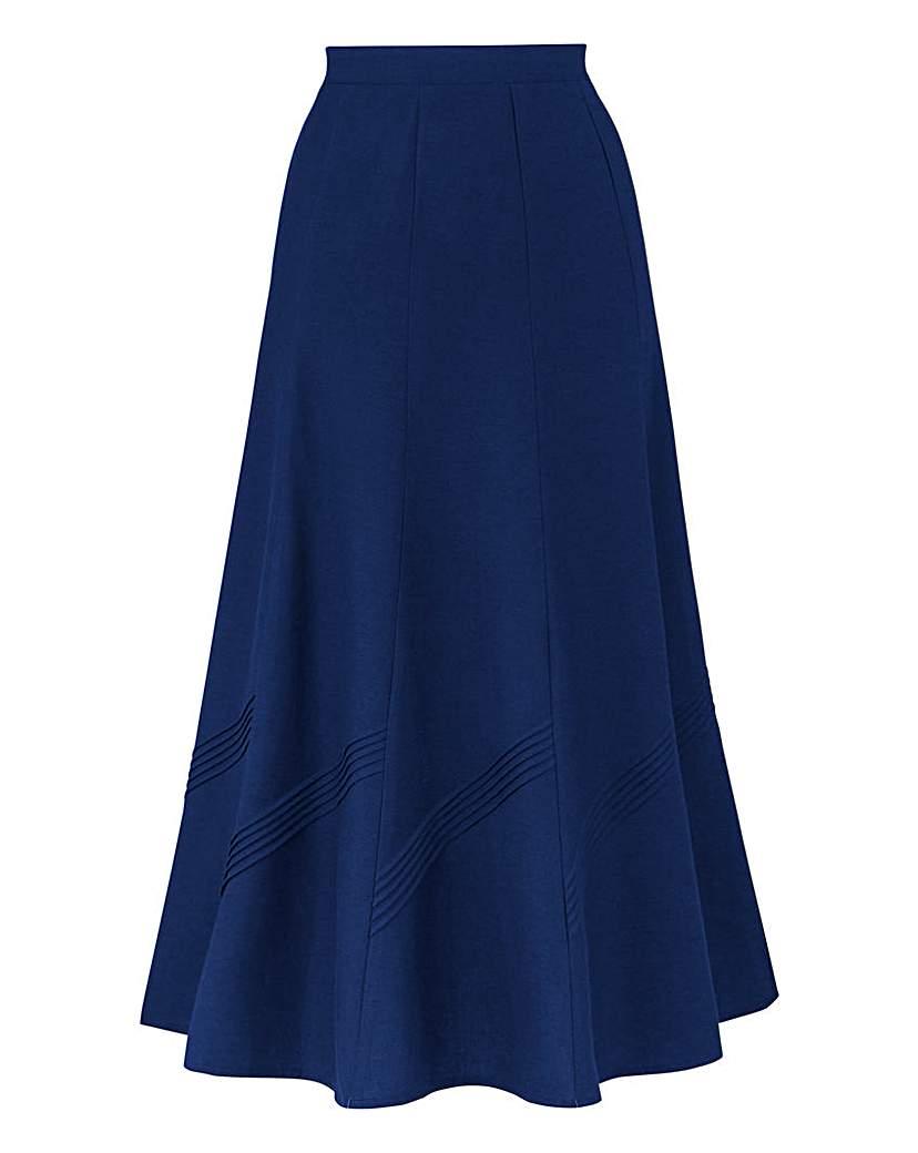 Linen Mix Skirt 25in £18.00 AT vintagedancer.com