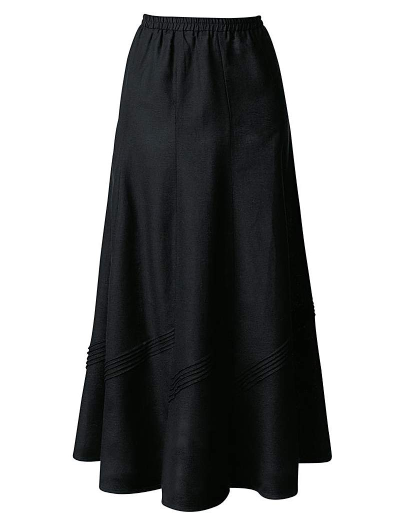 Linen Mix Skirt 33in £19.00 AT vintagedancer.com