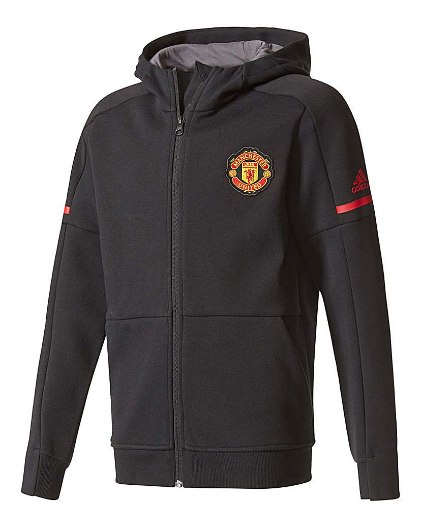 Image of adidas MUFC Boys Youth Hooded Tracktop