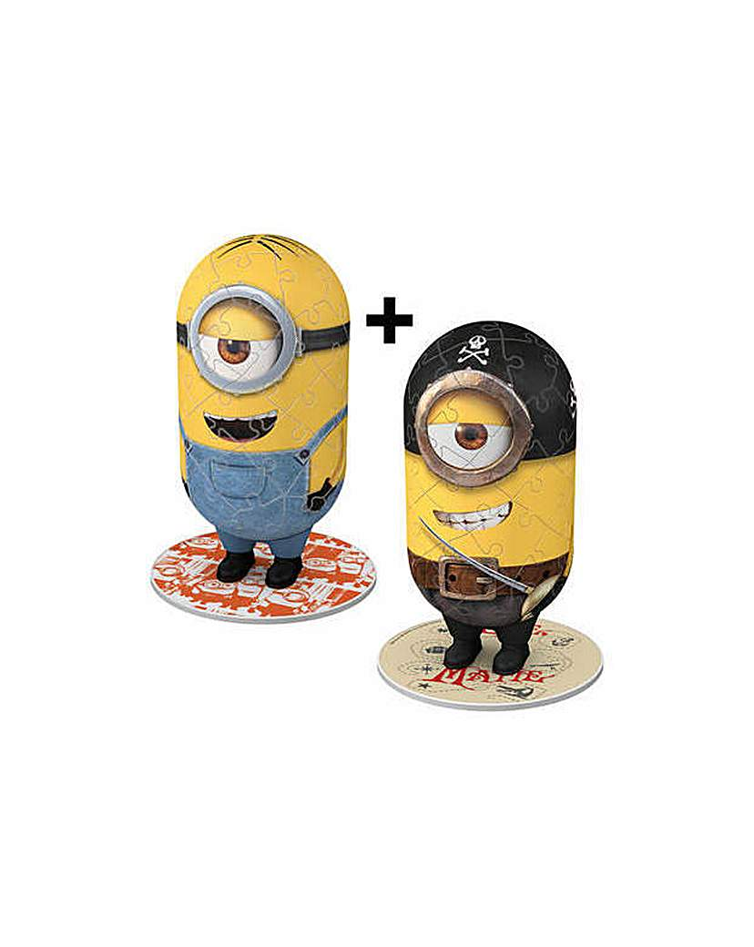 Image of Minions 3D Puzzle Twin Pack.