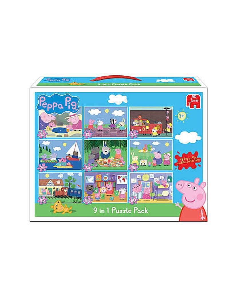 Jumbo Games Peppa Pig 9 in 1 Jigsaw