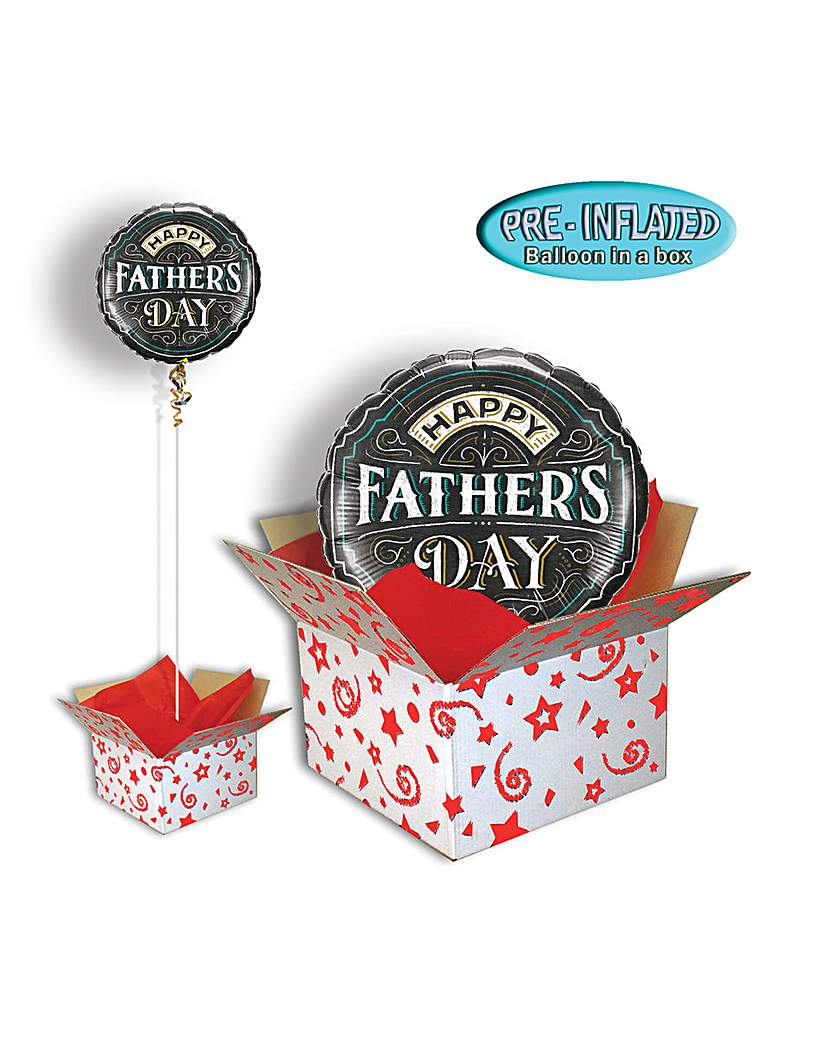Image of Fathers Day Chalkboard Balloon In Box