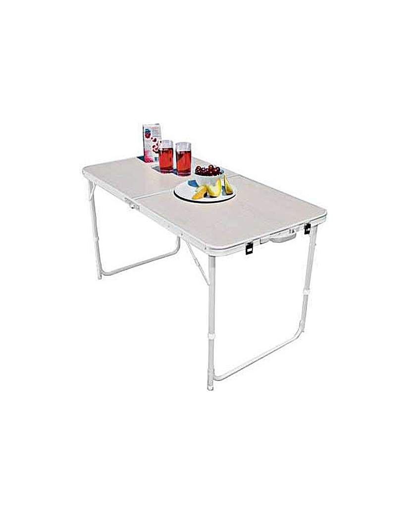 Image of Twin Height Folding Camping Table.