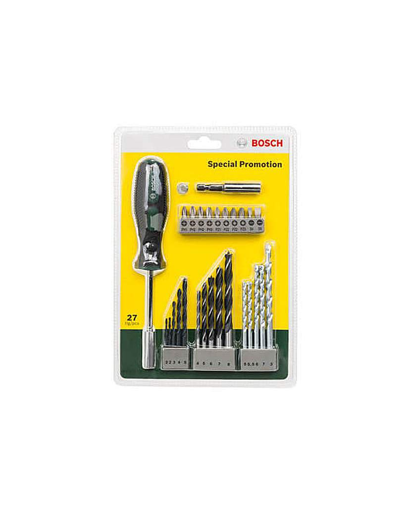 27 Piece Hand Screwdriver and Bit Set.