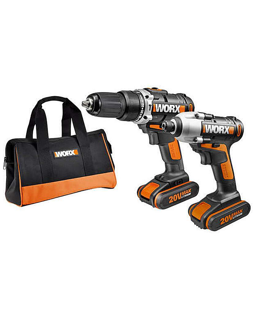 Twin Pack Combi Drill and Impact Driver