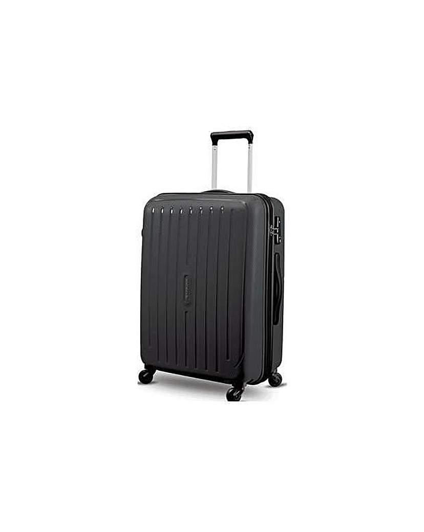 Large 4 Wheel Hard Suitcase  Silver
