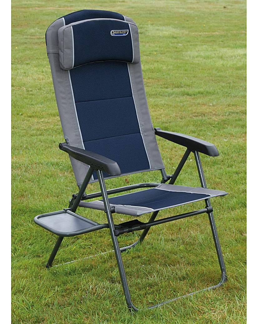Image of Ragley pro blue recline chair with table