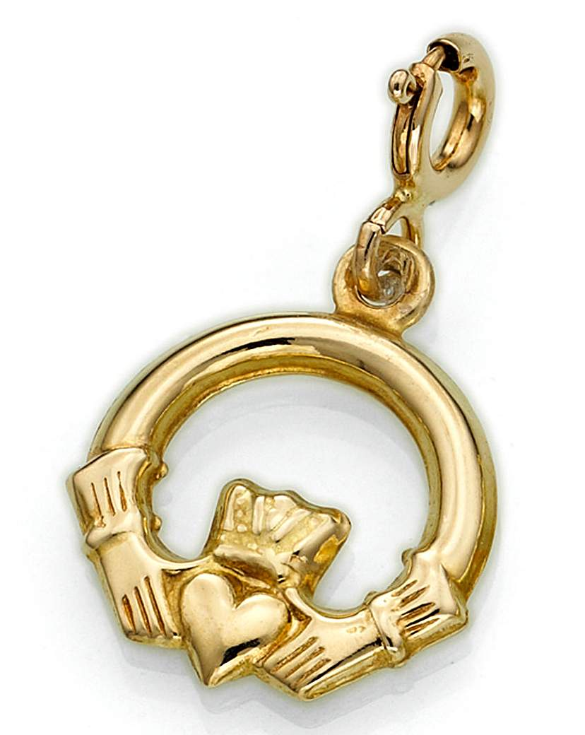 Image of 9ct Gold Claddagh Charm