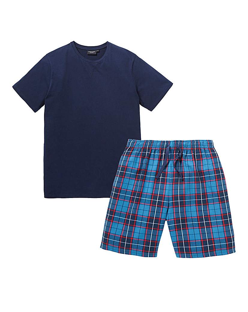 Capsule Check Shorts PJ Set