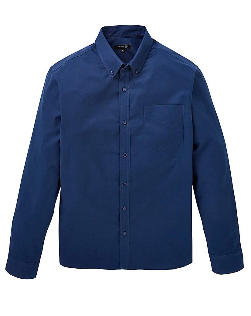 Capsule L/S Navy Oxford Shirt Regular