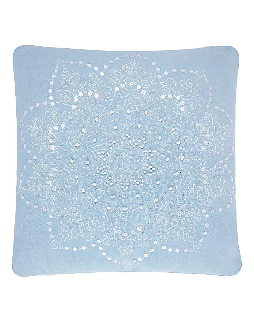 Image of Lorraine Kelly Blue Star Cushion
