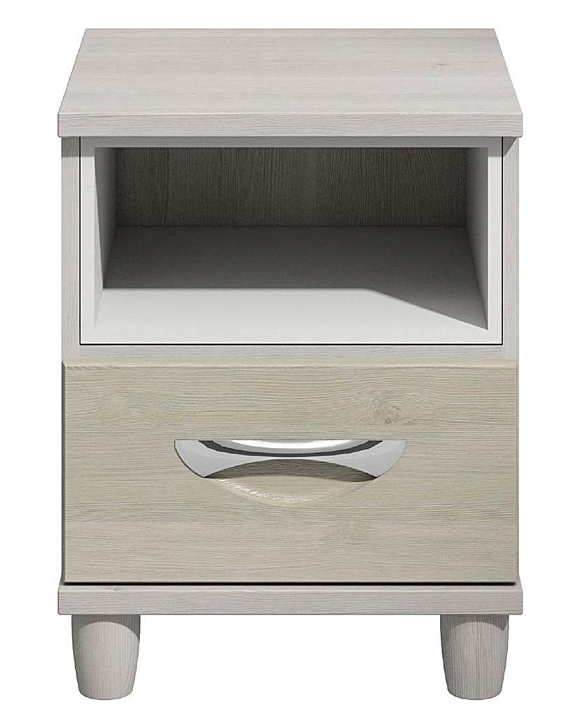 Image of Athens 1 Drawer Bedside Table with Light