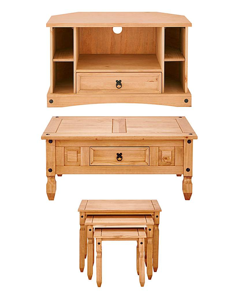 Image of Corona Solid Pine Living Package Deal
