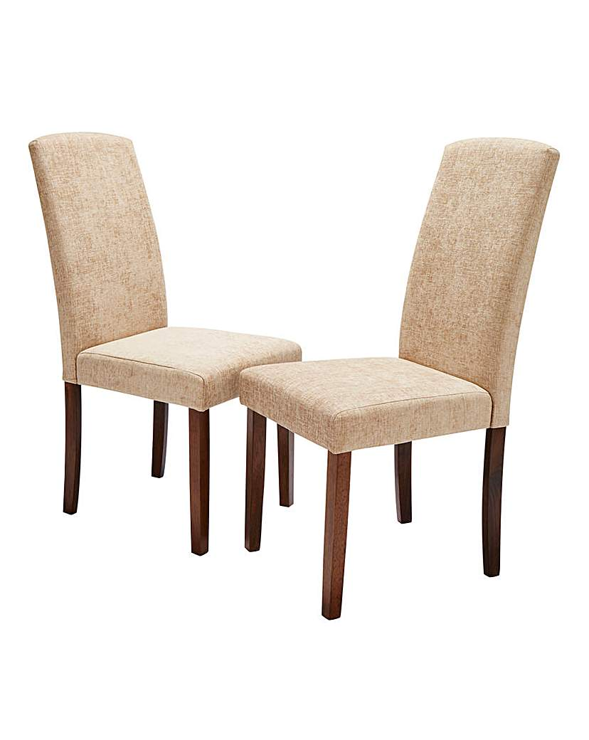 Image of Ava Chenille Pair of Dining Chairs