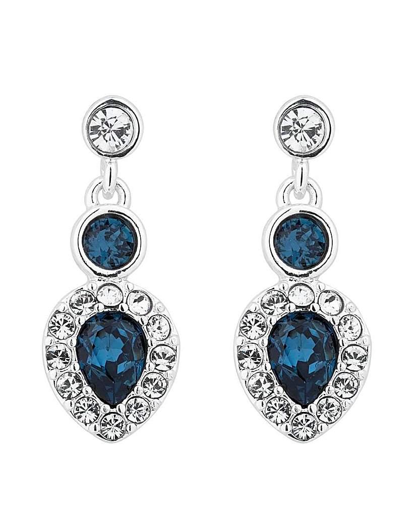Jon Richard Blue peardrop earring
