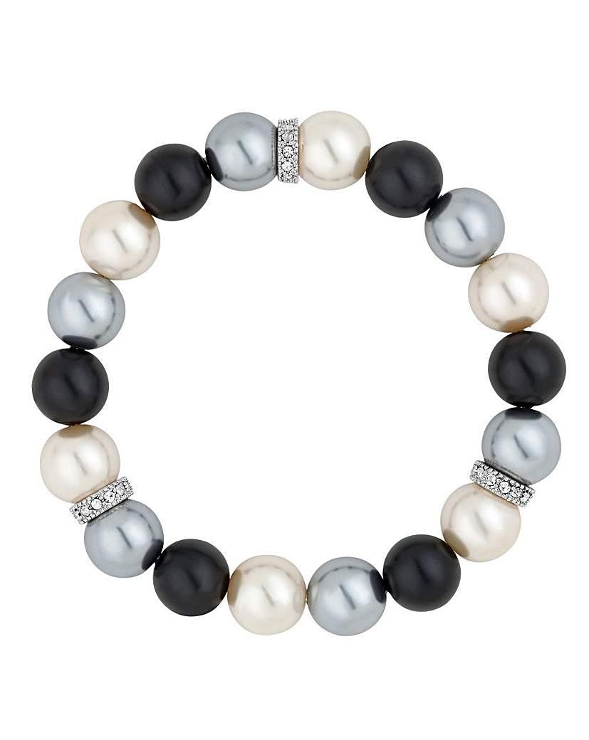 Image of Jon Richard pearl crystal bracelet