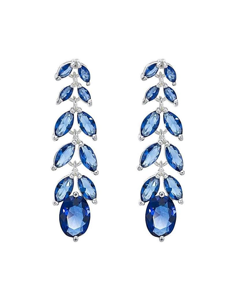 Jon Richard Blue leaf drop earring
