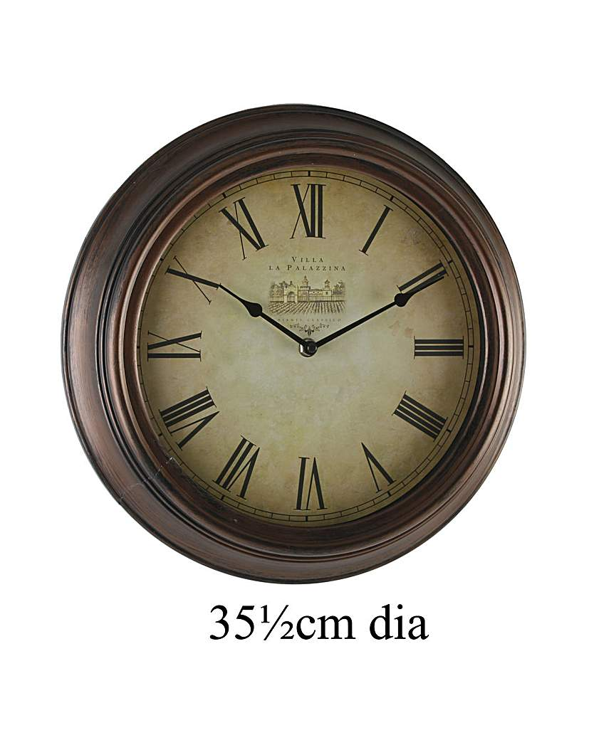 Image of Antique Style Bronze Wall Clock