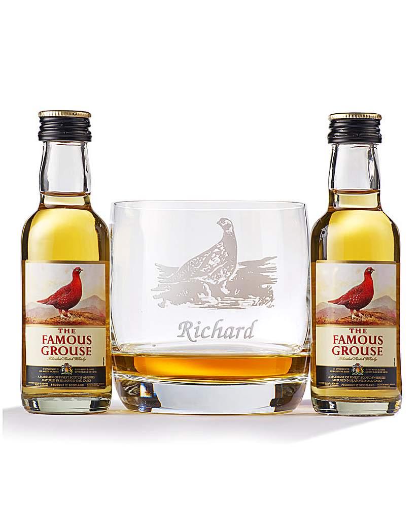 Personalised Whisky Tumbler & Miniatures