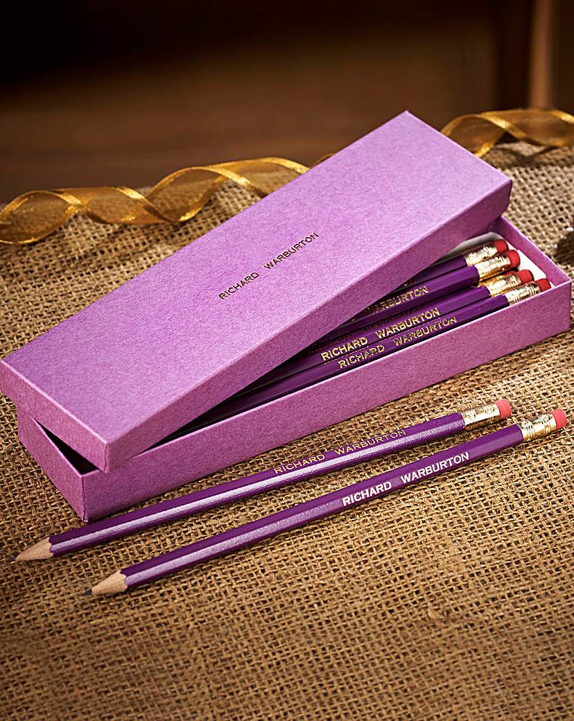 12 Personalised Pencils in a Box