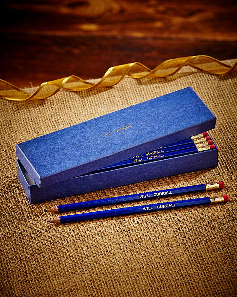 Image of 12 Personalised Pencils in a Box