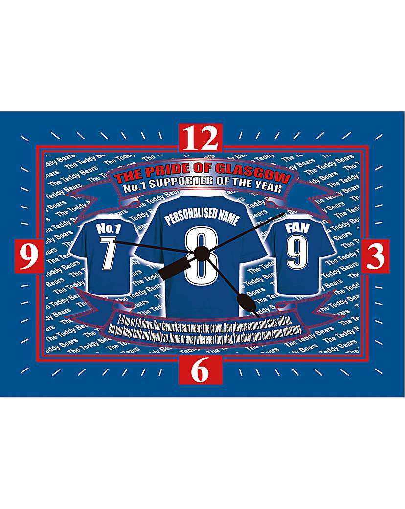 Image of Personalised Supporter of the Year Clock