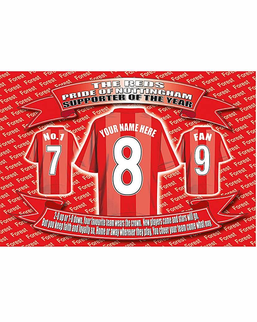 Image of Personalised Football Shirt Laptray
