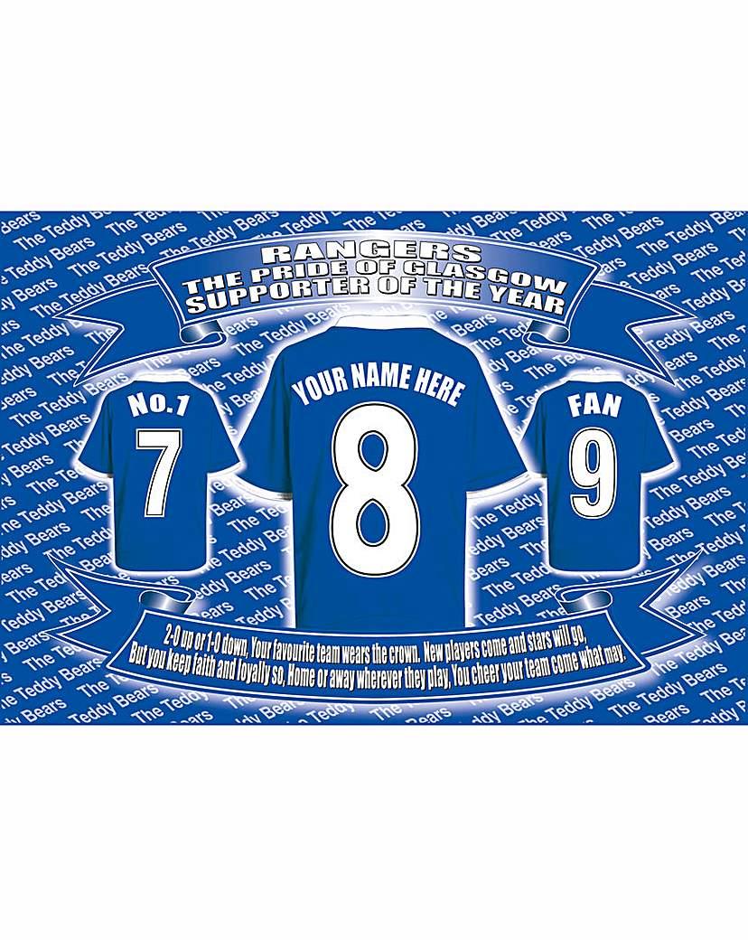 Personalised Football Shirt Laptray