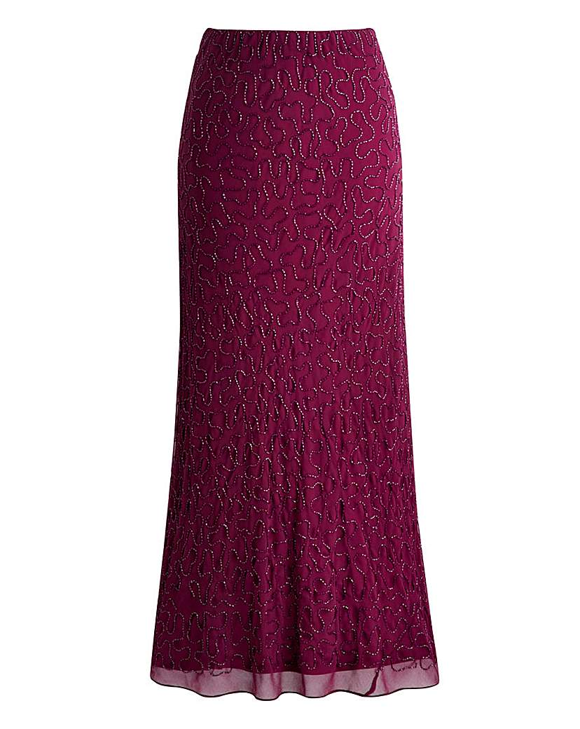 1920s Style Skirts Joanna Hope Bias Cut Beaded Maxi Skirt £47.00 AT vintagedancer.com