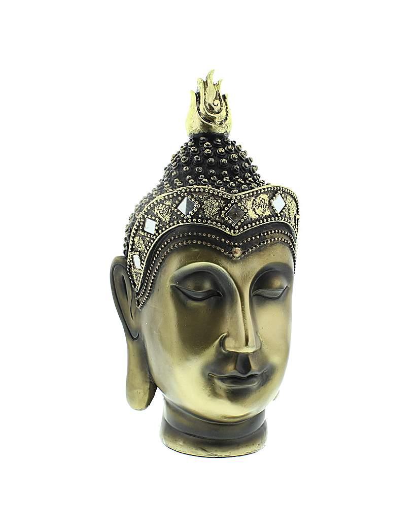 Image of Antique Gold Colour Buddha Head