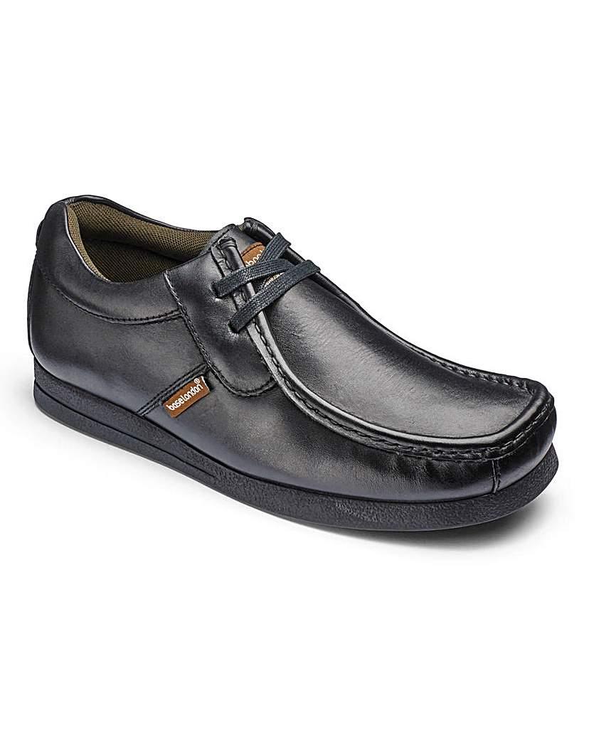 Base London Black Armour Asymmetric Shoes